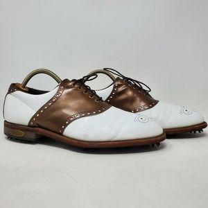 VTG FootJoy Classics Patent Leather Saddle Golf 10